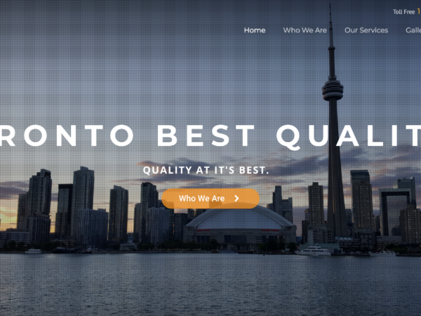Toronto Best Quality Website Front Cover