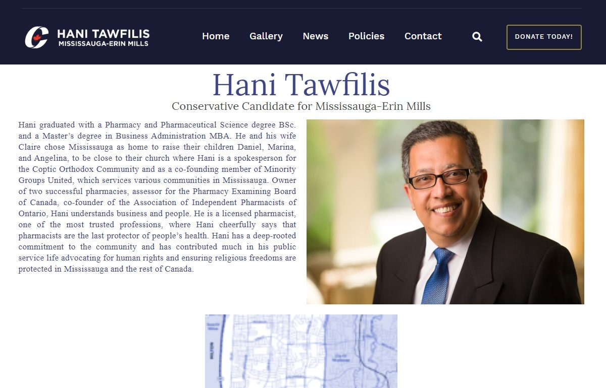 Hani Tawfilis – Election Candidate